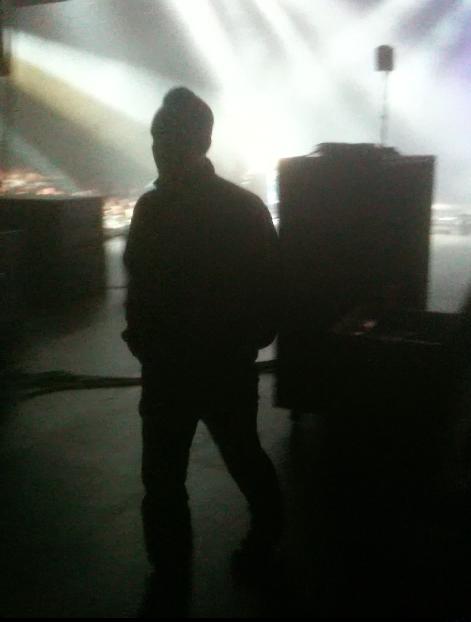 Michael Poulsen backstage