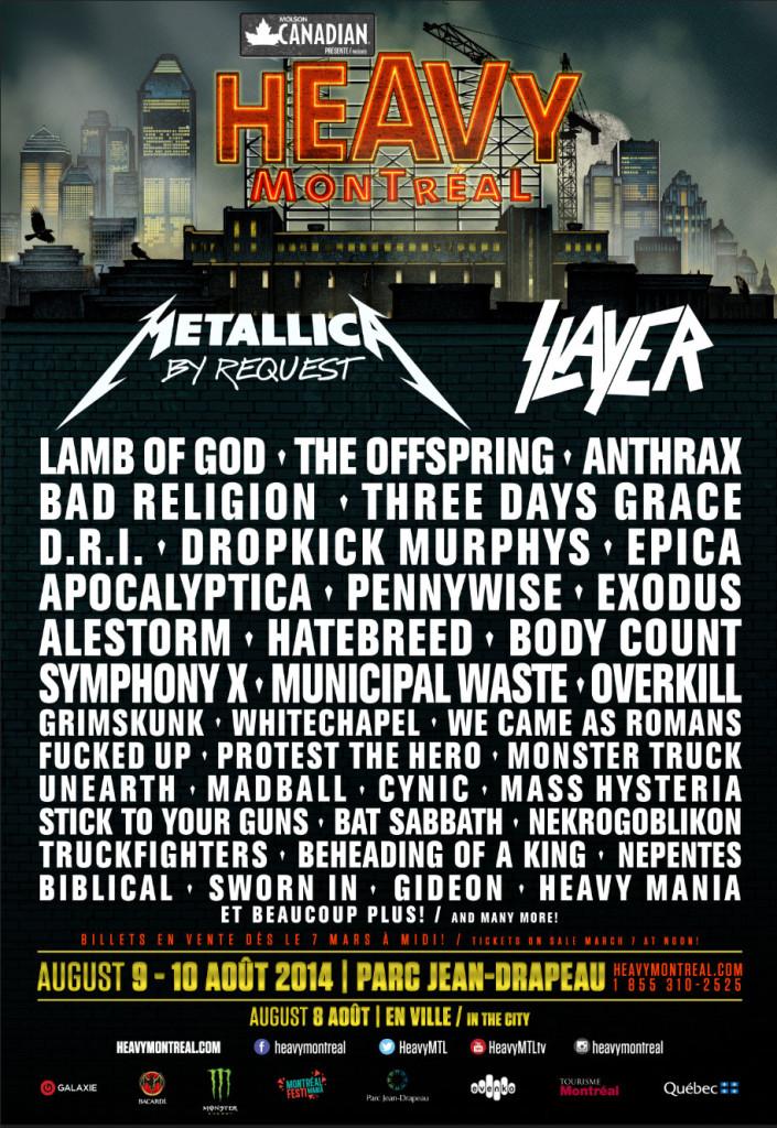 heavy mtl 2014 lineup