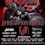Rockstar Energy Drink Mayhem Festival 2014 Lineup