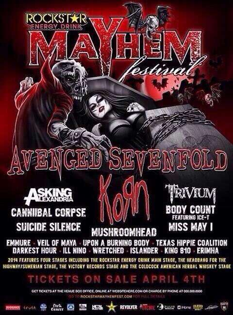 rockstar energy drink mayhem festival 2014