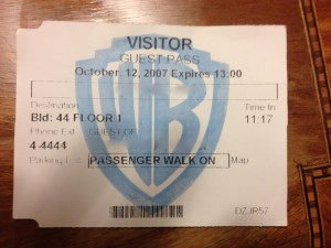 warner bros visitor pass