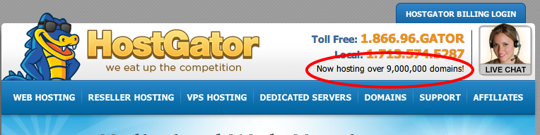hostgator 9 million