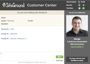 siteground customer support chat