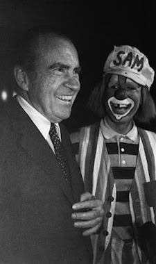 richard nixon with a clown